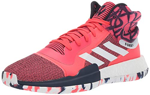 adidas Men's Marquee Boost, Shock red/White/Collegiate Navy, 10 M US