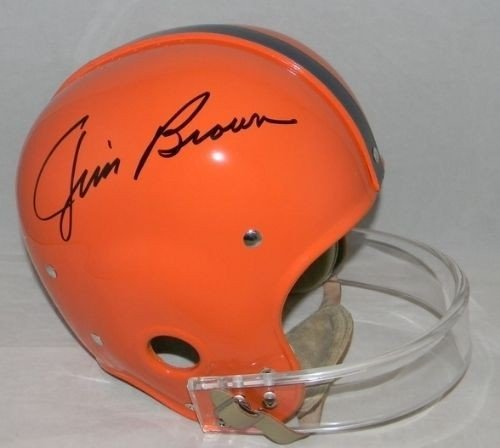 Rk Throwback Helmet (Jim Brown Autographed Syracuse Orange Full Size Throwback Rk Helmet - JSA Authentication)