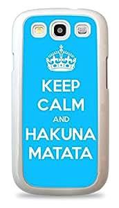 Keep Calm And Hakuna Matata Galaxy S3 White Silicone Case