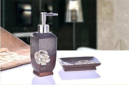 Accessori Bagno Marrone : Bagno hjky set accessori kit da toilette continental creative