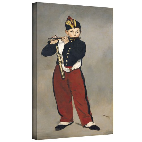 ArtWall manet-016-10x18-w Edouard Manet 'The Fifer' Gallery-Wrapped Canvas Artwork, 10 by 18-Inch ()