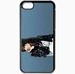 Personalized iPhone 5C Cell phone Case/Cover Skin Ashlee simpson actresses famous for being popular recording artist and star of undiscovered Black