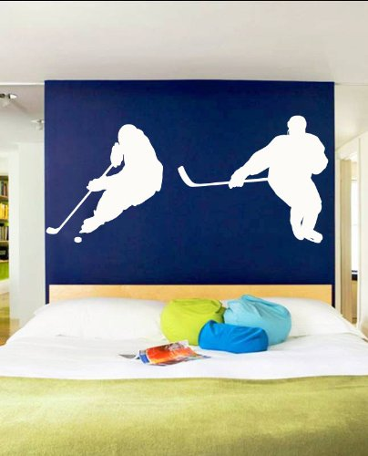 Vinyl Wall Decal Sticker Hockey Players Duel