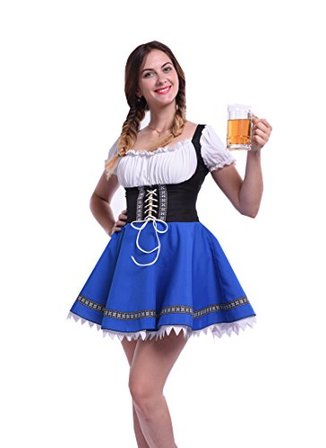 Lemail Women's Plus Size Beer Oktoberfest Fraulein Adult Costume - Womens Plus Size Oktoberfest Fraulein Costumes