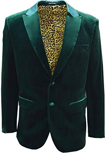 Men's Premium Velvet Prom Party Ceremony Evening Dinner Smoking Jacket Blazer (Chest USA 38 - Small, ()