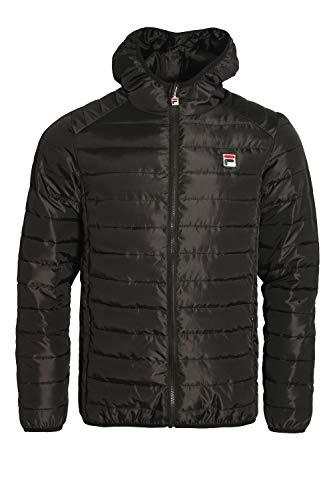 Pavo Black Vintage Jacket Fila Hooded Puffa qv7z5Fp
