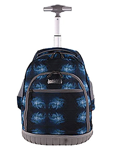 SK Studio Boys' Classic with Wheeled Travel Rolling Backpack Deep Blue