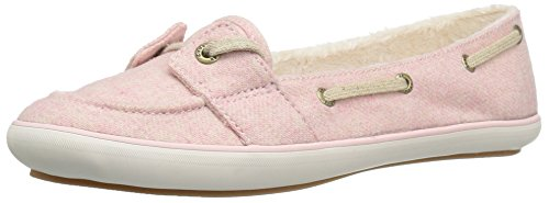 Keds Women's Teacup Boat Wool Shearling Fashion Sneaker, Strawberry Pink, 8.5 M US