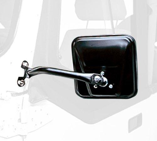 Cj Style Mirror (Rugged Ridge 11001.08 CJ Style Black Side Mirror - Pair)