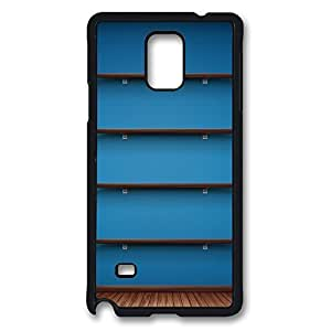 Galaxy Note 4 Case, Blue Wall Design Print Pattern Perfection Case [Anti-Slip Feature] [Perfect Slim Fit] Plastic Case Hard Black Covers for Samsung Galaxy Note 4