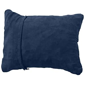 Therm-a-Rest Compressible Travel Pillow for Camping, Backpacking, Airplanes and Road Trips, Denim, X-Large - 16.5 x 27 Inches