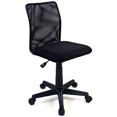 COSTWAY VD-10062CB Ergonomic Mesh Swivel Computer Office Desk Task Chair, Black (Best Office Chair To Sit Cross Legged)