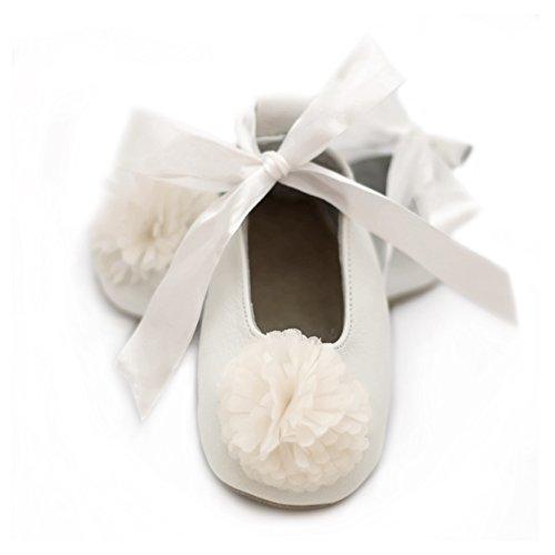 White Gold Ballet Slippers - 6
