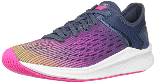 New Balance Girls' Fast V1 Running Shoe, Light Mango/Peony/Vintage Indigo, 6.5 M US Big Kid (Best Shoes For Gym Classes)