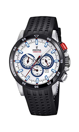 (Festina Mens Chronograph Quartz Watch with Silicone Strap F20353/1)