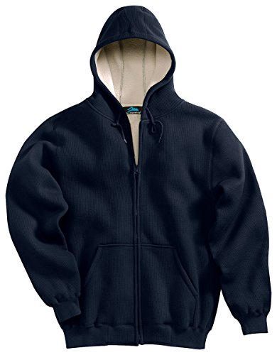 Zip Thermal Hooded Pullover Sweatshirt (Tri-mountain Men 60/40 thermal full zip hooded sweatshirt with sherpa fleece lining. 697 -)
