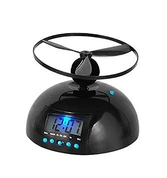 tiangtech® novedad Digital LED alarma reloj Gadget Run Away Flying/rolling picadora helicóptero Propeller reloj creativo regalo: Amazon.es: Hogar