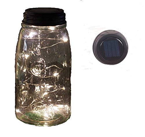 Colonial Tin Works Angel Tears Solar Light Mason Jar Lid,Deep Rustic Brown,1 count ()
