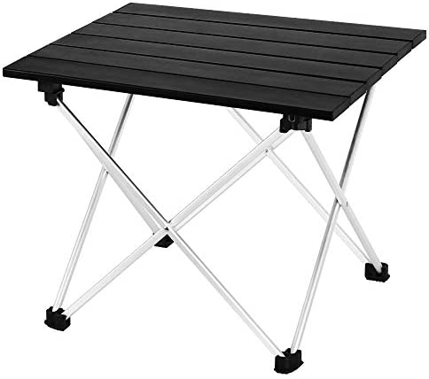 LIANTRAL Portable Camping Table, Outdoor Lightweight Folding Table- Small Compact Picnic Aluminum Table with Carry Bag for for Camping, Picnic, BBQ, Hiking, Fishing