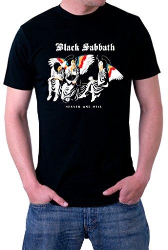 Black Sabbath Heaven And Hell - Black Sabbath Heaven And Hell Ozzy Dio Logo Men's T-Shirt Large Black