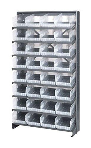 - Quantum QPRS-208CL Single-Sided 32 QSB208CL Clear Bin Storage Pick Rack System 24