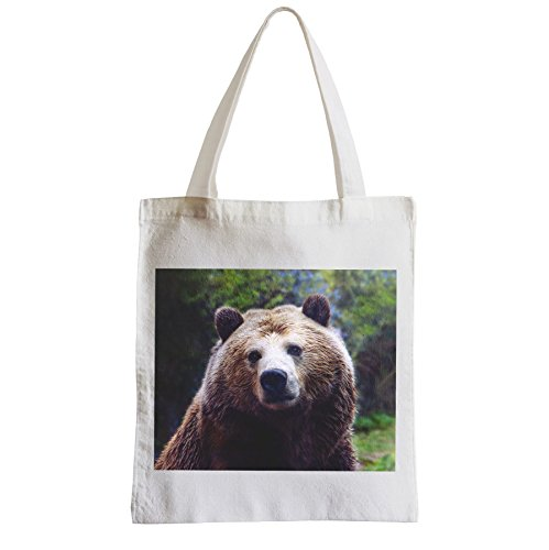 Grand Sac Shopping Plage Etudiant grizzli ours brun animaux nature sauvage