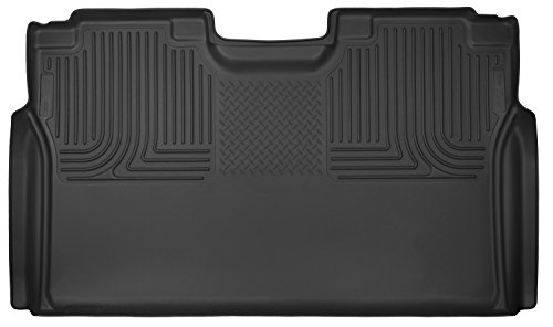 2015-2017 Ford F-150 SuperCrew Cab - Husky Liners X-act Contour Series (2nd Seat Floor Liner) (Full Coverage) - (Black Second Seat Floor Liners)