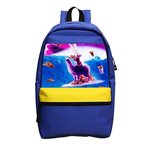 Ocz Pc - Space Cat Riding On Llama Unicorn Laptop Backpacks Fashion Large Space Shoulder Handbag