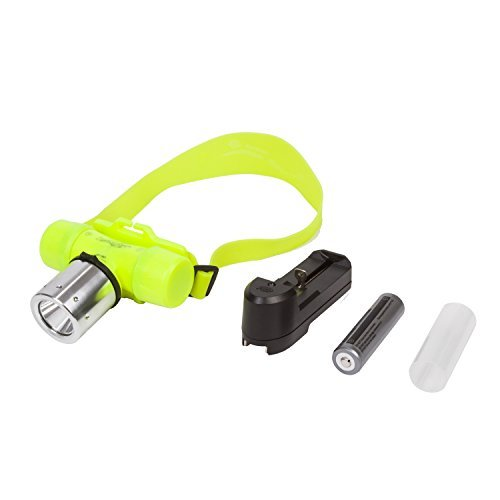 Yellow CREE T6 LED Waterproof Underwater Diving Head light Lamp Flashlight Torch