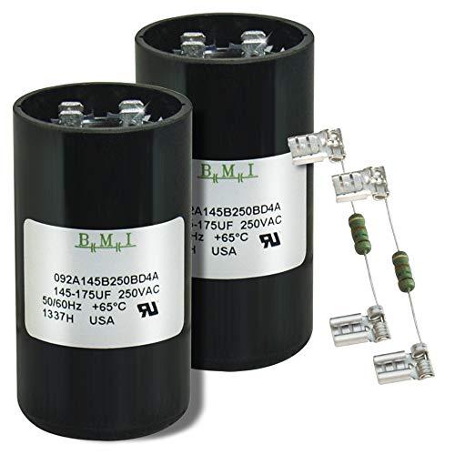 145-175 uF x 250 VAC BMI # 092A145B250BD4A Motor Start AC Capacitor /& Resistor