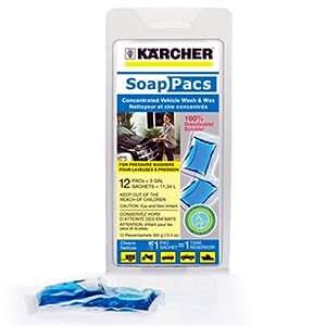 Karcher 9.558-112.0 Pressure Washer Vehicle Wash and Wax SoapPac, 12-Pack
