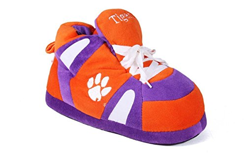 Happy Feet Mens Och Womens Officiellt Licensierade Ncaa College Gymnastiksko Tofflor Clemson Tigrar