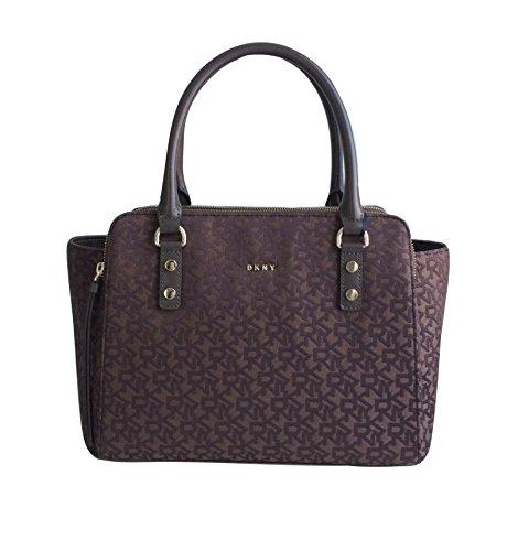 Brown Small in Bag DKNY Canvas Shoulder Logo xwEqwzY1