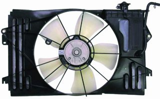 QP T710B-c Pontiac Vibe Replacement AC A/C Condenser Radiator Cooling Fan/Shroud Assembly