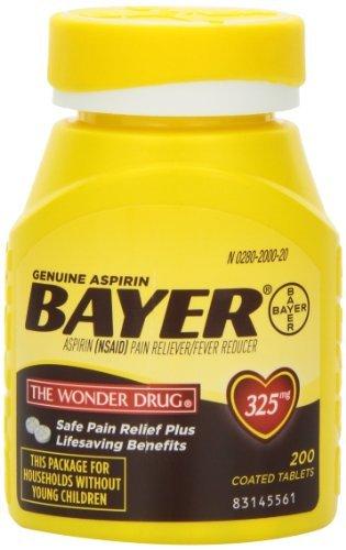 [미국 바이엘 아스피린] Genuine Bayer Aspirin Tablets, 325 mg, 200 Count