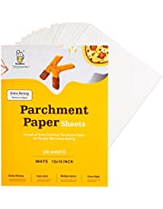 Katbite Heavy Duty Parchment Paper Sheets 200, 12x16 Inch Precut Parchment Baking Paper for Baking Cookies, Bread, Meat