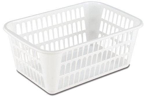 Sterilite 16098024 Large Storage Basket, White, 24-Pack by STERILITE