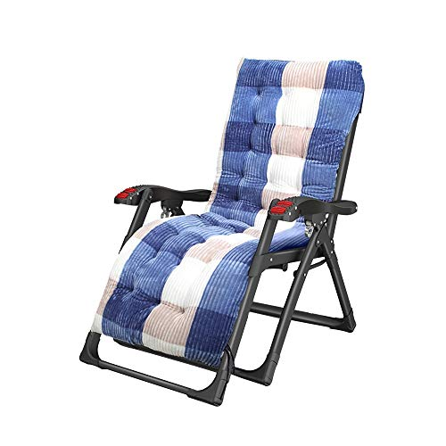 Bseack_Store Chair Deck Chairs, 88 Teslin Fabric Detachable Cup Holder Semi-Automatic Adjustment Fold Lounge Chair for Terrace Garden (Color : C)