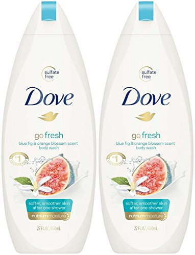 Wash Fig - Dove Go Fresh Restore Body Wash, Blue Fig and Orange Blossom Scent, 22 Ounce (Pack of 2)