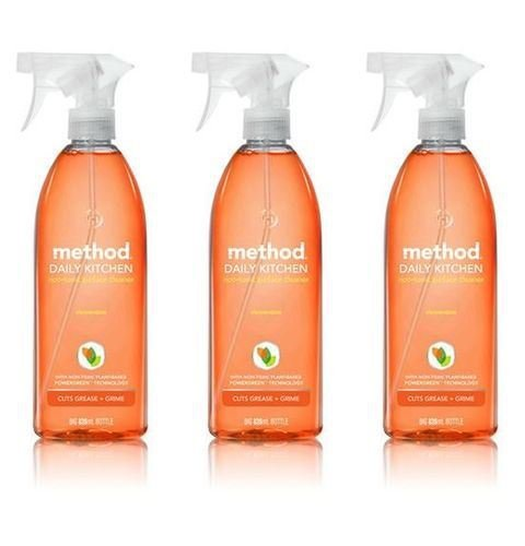 (3 PACK) - Method Daily Kitchen Surface Cleaner | 828ml | 3 PACK - SUPER SAVER - SAVE MONEY Method Products Ltd