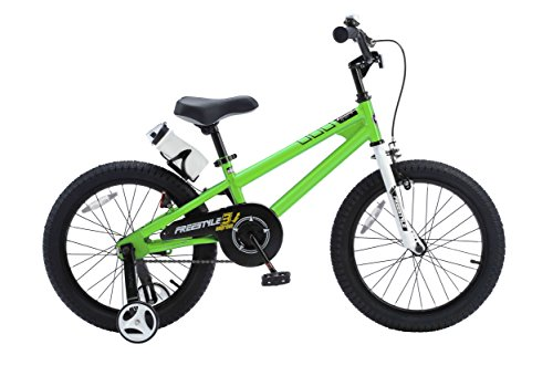 RoyalBaby BMX Freestyle Kids Bike, Boys Bikes and Girls Bikes with training wheels, Gifts for children, 18 inch wheels, in 6 colors