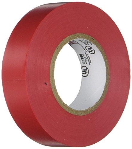 (Morris 60010 Red Vinyl Plastic Electrical Tape, 7 mil, PVC, 66' Length, 3/4