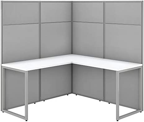 Bush Business Furniture Easy Office L Shaped Cubicle Desk Workstation