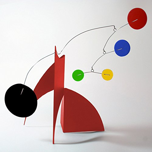 The Moderne Art Stabile - a mobile you display on desktop, coffee table, or shelf - Inspired by Alexander Calder - Eames Midcentury Modern Style