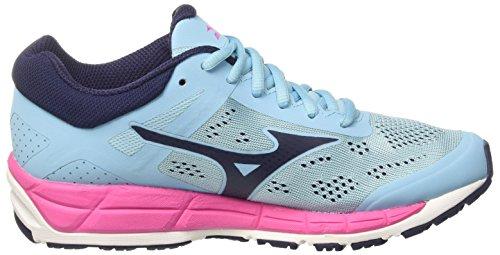 Mehrfarbig Damen Mizuno W Peacoat MX Pinkglo Bluetopaz Laufschuhe Synchro dPggfxX