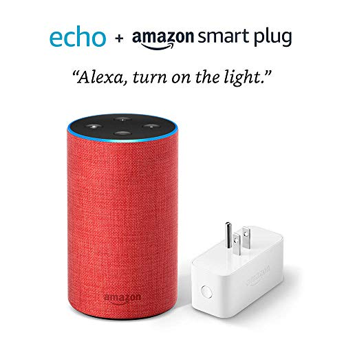 Echo (2nd Generation) with Amazon Smart Plug – PRODUCT(RED) edition
