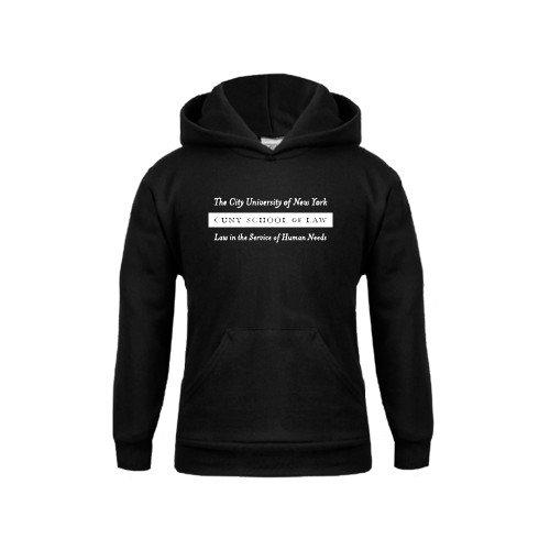 CUNY School of Law Youth Black Fleece Hoodie Official Logo