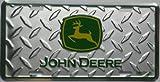 John Deere License Plate Chrome Diamond Tread Dear Farm Tractor