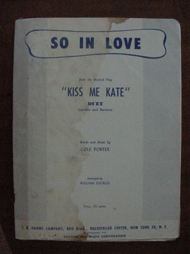 (So In Love from the Musical Play Kiss Me Kate Duet Soprano and Baritone)