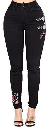 Slim Basic Fit Alta Jeans Dunland Vita Elastico Skinny Ricamo 0pO6wUwq